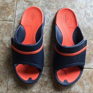 Crocs Slide Sandals size 9 men, 11 for women.